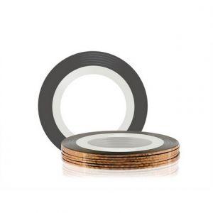 Лента для дизайна ногтей самоклеющаяся ,бронзовая, 20 м